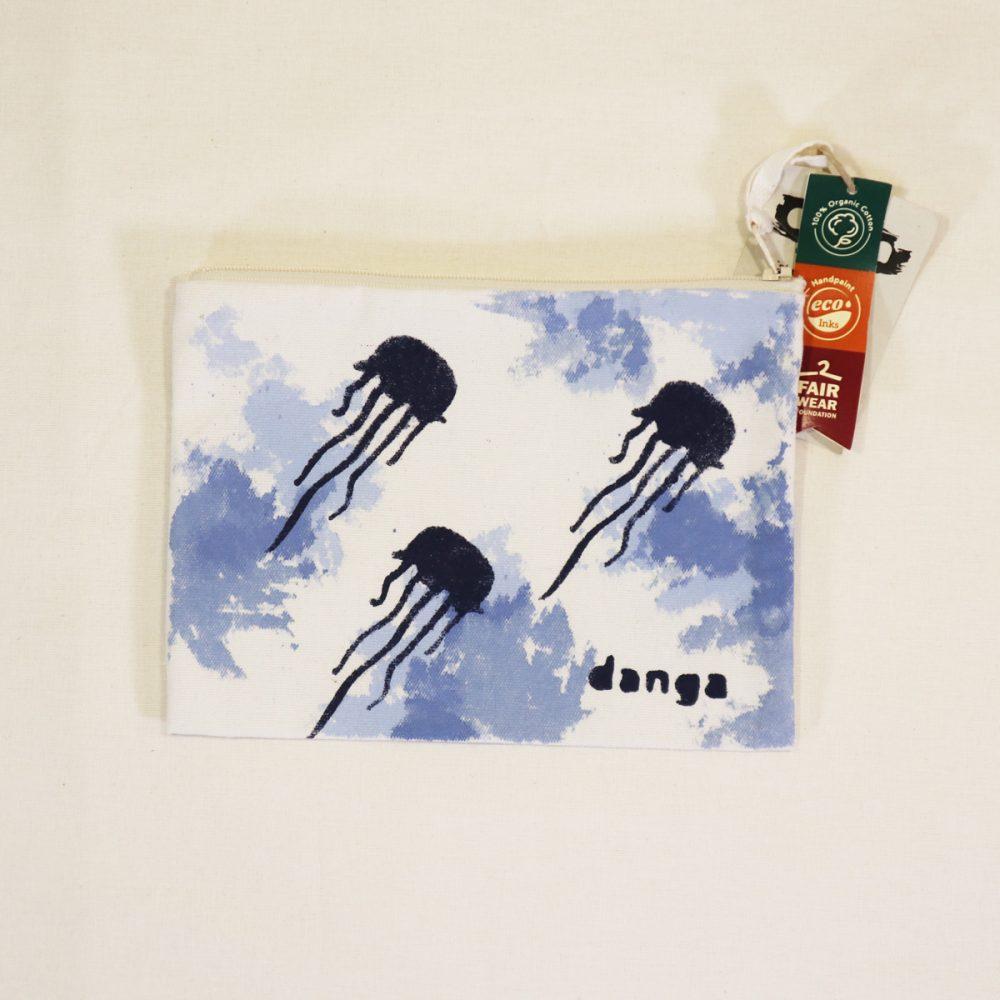 Danga organic cotton jellyfish pencil case
